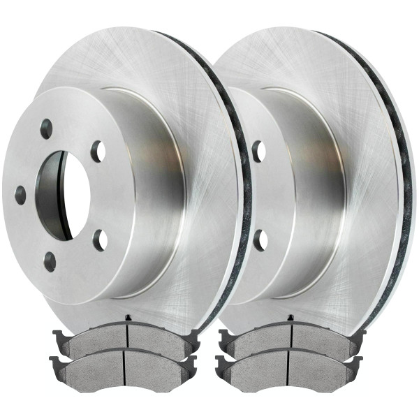Front Ceramic Brake Pad and Rotor Bundle - Part # RSCD6398-6398-477-2-4