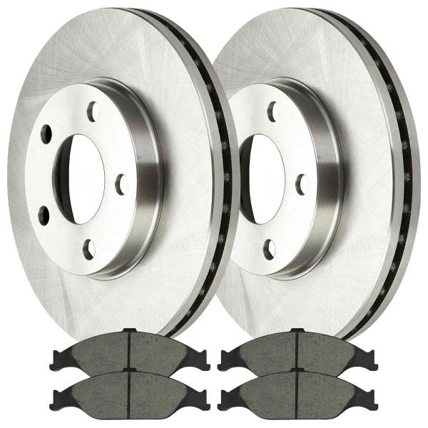 [Front Set] 2 Brake Rotors & 1 Set Ceramic Brake Pads - Part # RSCD64013804