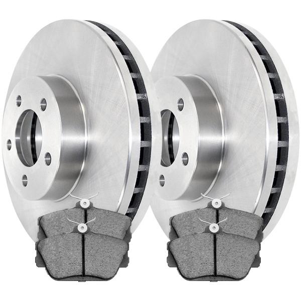 [Front Set] 2 Brake Rotors & 1 Set Ceramic Brake Pads - Part # RSCD64032-64032-598-2-4