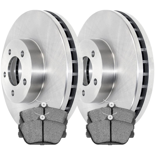 [Front Set] 2 Brake Rotors & 1 Set Ceramic Brake Pads - Part # RSCD64032-64032-598-2-4