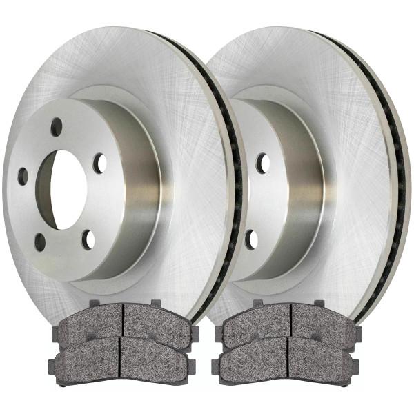 Front Ceramic Brake Pad and Rotor Bundle 11 1/4 Inch Rotor Diameter - Part # RSCD64037-64037-652-2-4