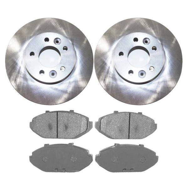 [Front Set] 2 Brake Rotors & 1 Set Ceramic Brake Pads - Part # RSCD64062-64062-748-2-4