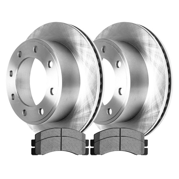 [Front Set] 2 Brake Rotors & 1 Set Ceramic Brake Pads - Part # RSCD64080-64080-824-2-4