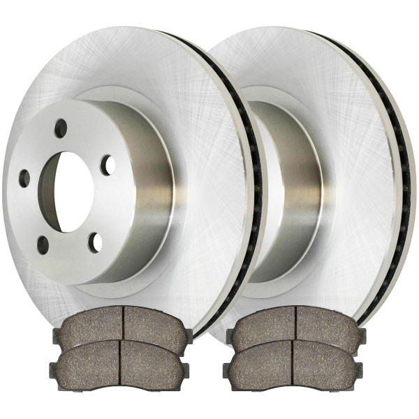 Front Ceramic Brake Pad and Rotor Bundle 12 Inch Rotor Diameter 2.6 Inch Rotor Height - Part # RSCD64099-64099-833-2-4