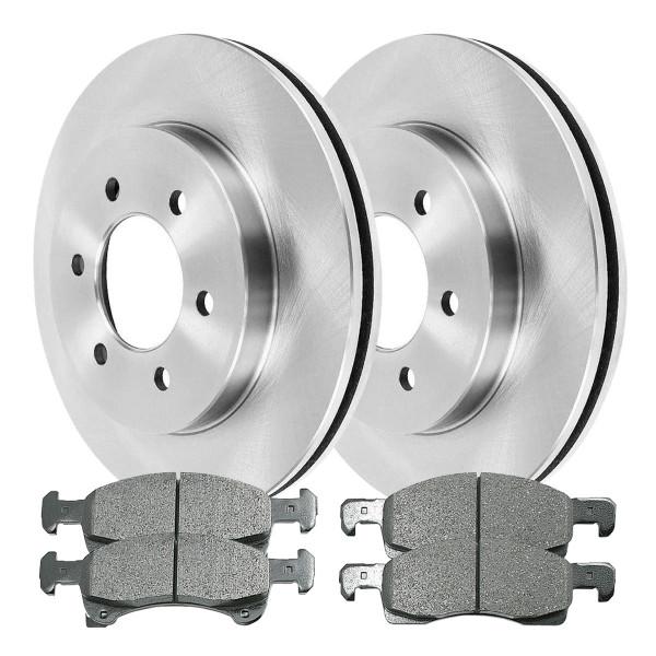 Front Ceramic Brake Pad and Rotor Bundle - Part # RSCD64101-64101-934-2-4
