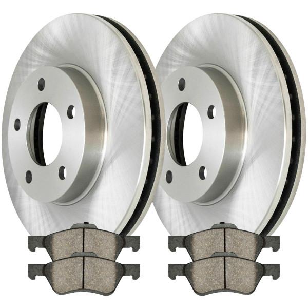 [Front Set] 2 Brake Rotors & 1 Set Ceramic Brake Pads - Part # RSCD64125-64125-1047-2-4