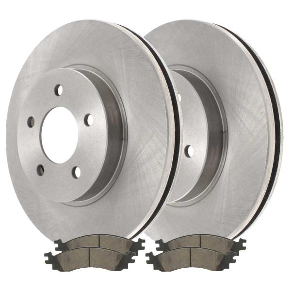 Front Ceramic Brake Pad and Rotor Bundle - Part # RSCD64145-64145-1158-2-4