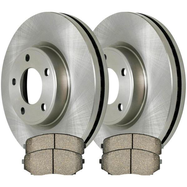 Front Ceramic Brake Pad and Rotor Bundle 12.60 Inch Rotor Diameter - Part # RSCD641561258