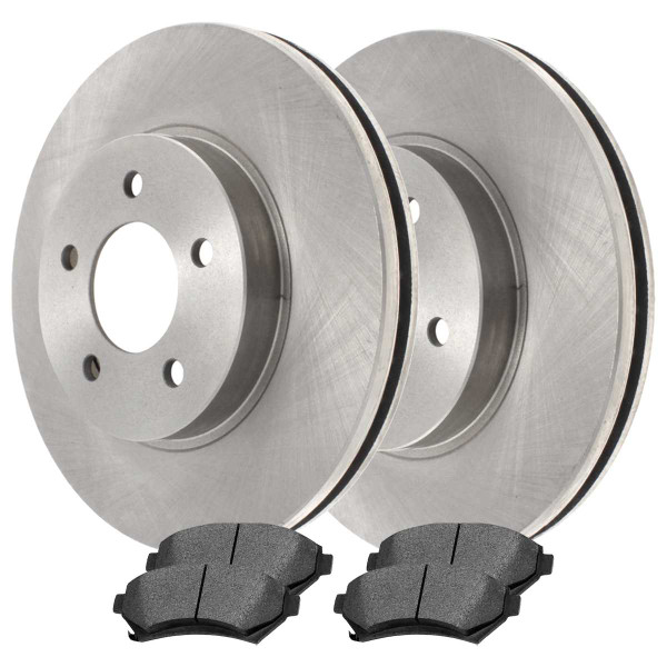 Front Ceramic Brake Pad and Rotor Bundle 5 Stud 11.92 Inch Rotor Diameter - Part # RSCD65036-65036-699-2-4