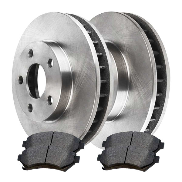 [Front Set] 2 Brake Rotors & 1 Set Ceramic Brake Pads - Part # RSCD65038-65038-699-2-4