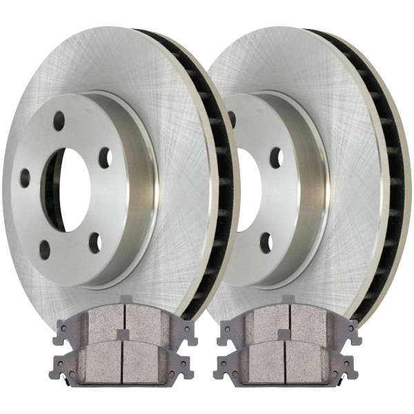 [Front Set] 2 Brake Rotors & 1 Set Ceramic Brake Pads - Part # RSCD65042-65042-727-2-4