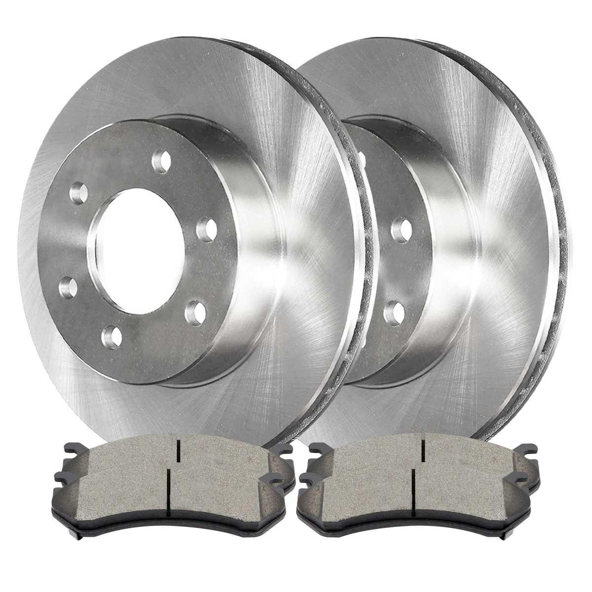 AutoShack R65036R65041 Front and Rear Brake Rotors