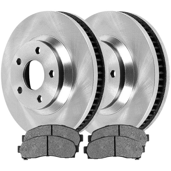 [Front Set] 2 Brake Rotors & 1 Set Ceramic Brake Pads - Part # RSCD65082-65082-913-2-4
