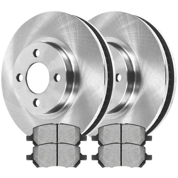 Front Ceramic Brake Pad and Rotor Bundle 4 Stud - Part # RSCD65085-65085-956-2-4