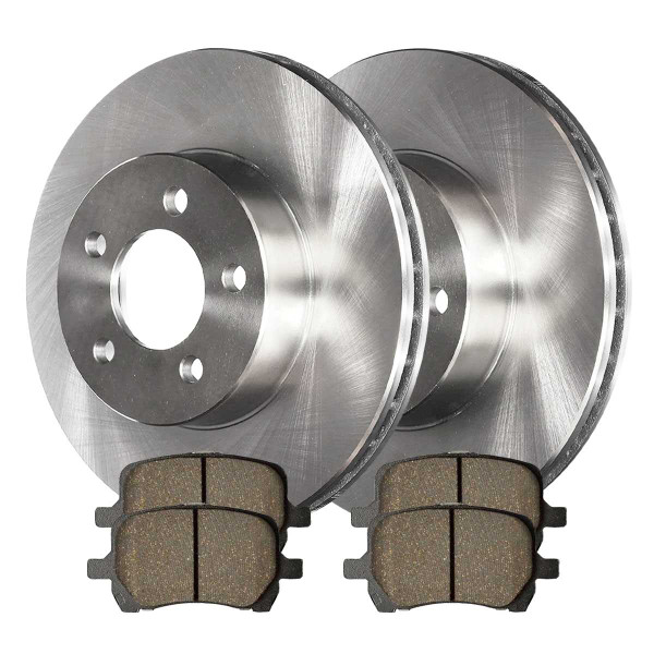 Front Ceramic Brake Pad and Rotor Bundle 296mm Rotor Diameter - Part # RSCD65095-65095-1160-2-4