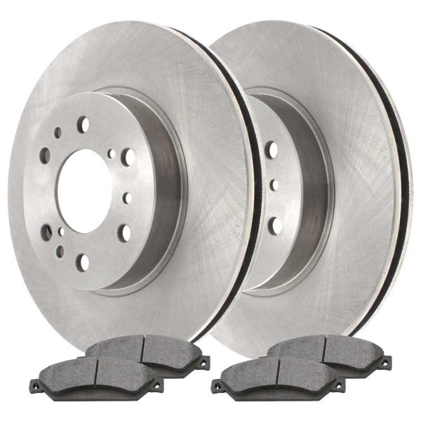 [Front Set] 2 Brake Rotors & 1 Set Ceramic Brake Pads - Part # RSCD65099-65099-1092-2-4