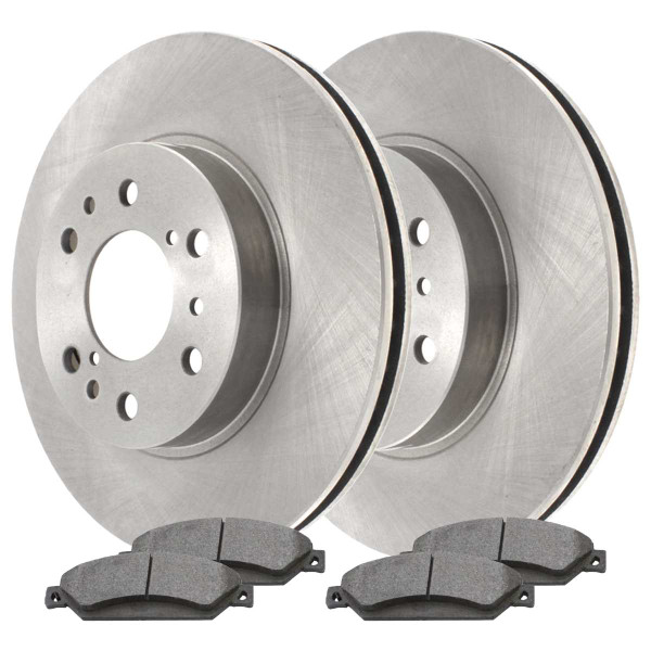 [Front Set] 2 Brake Rotors & 1 Set Ceramic Brake Pads - Part # RSCD65099-65099-1092-2-4