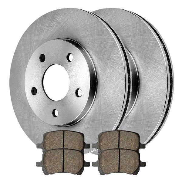 [Front Set] 2 Brake Rotors & 1 Set Ceramic Brake Pads - Part # RSCD65124-65124-1160-2-4
