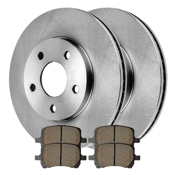 [Front Set] 2 Brake Rotors & 1 Set Ceramic Brake Pads - Part # RSCD65124-65124-1160-2-4
