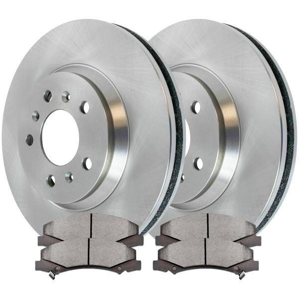 [Front Set] 2 Brake Rotors & 1 Set Ceramic Brake Pads - Part # RSCD65126-65126-1159-2-4