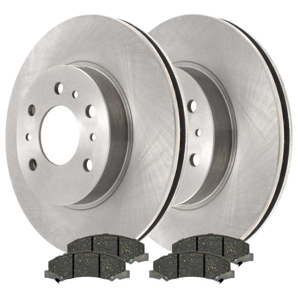 Front Ceramic Brake Pad and Rotor Bundle 11.92 Inch Rotor Diameter - Part # RSCD65128-65128-1159-2-4