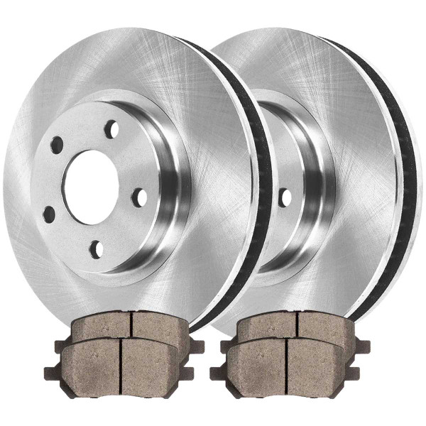 Front Ceramic Brake Pad and Rotor Bundle 5 Stud Rear Drum - Part # RSCD65146956
