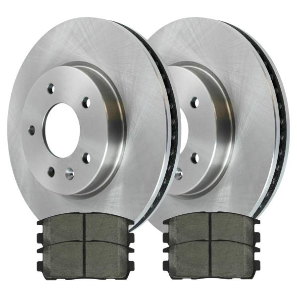 Front Ceramic Brake Pad and Rotor Bundle - Part # RSCD65150-65150-1264-2-4