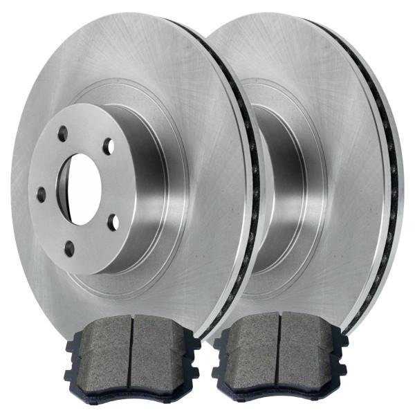 [Front Set] 2 Brake Rotors & 1 Set Semi Metallic Brake Pads - Part # RSMK41061929