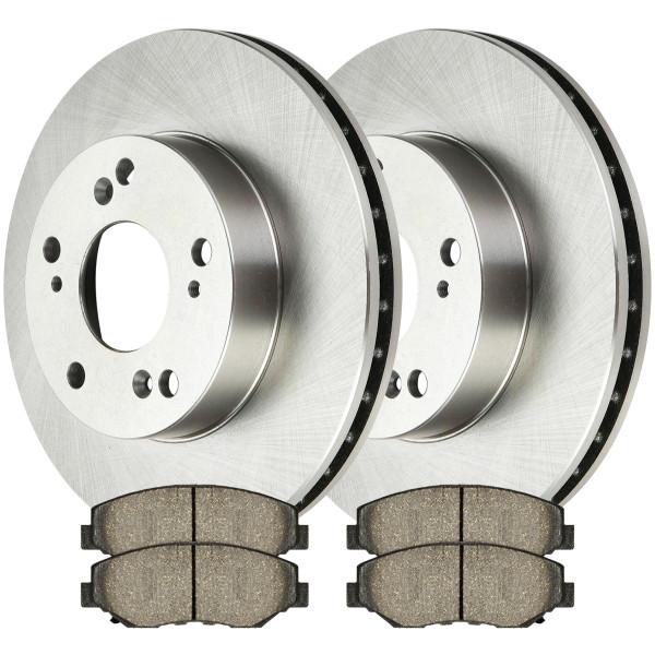 [Front Set] 2 Brake Rotors & 1 Set Semi Metallic Brake Pads - Part # RSMK41259-41259-914-2-4