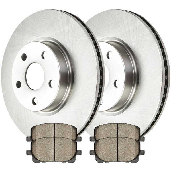Front Semi Metallic Brake Pad and Rotor Bundle - Part # RSMK41272-41272-923-2-4