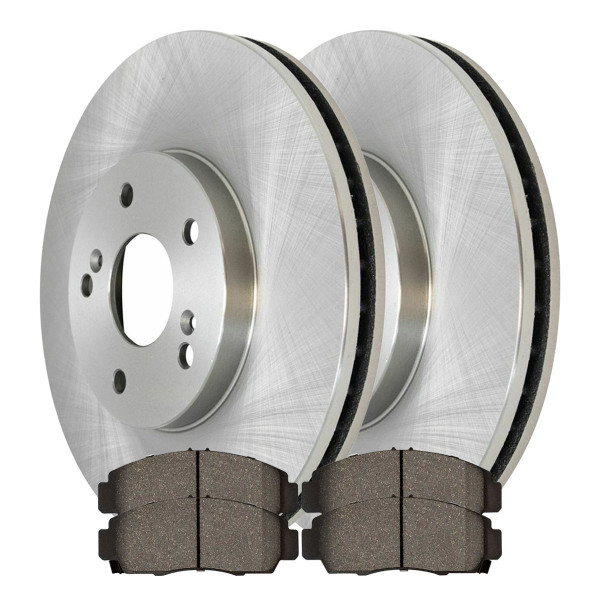 [Front Set] 2 Brake Rotors & 1 Set Semi Metallic Brake Pads - Part # RSMK41277-41277-787-2-4