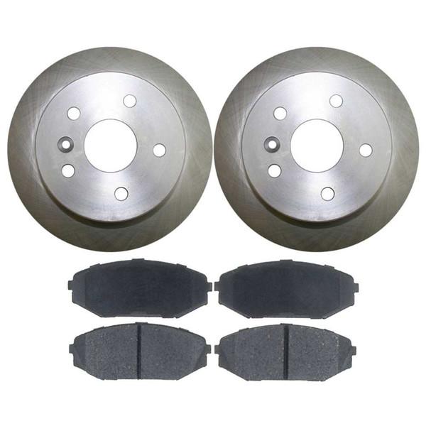[Front Set] 2 Brake Rotors & 1 Set Semi Metallic Brake Pads - Part # RSMK41277-41277-793-2-4