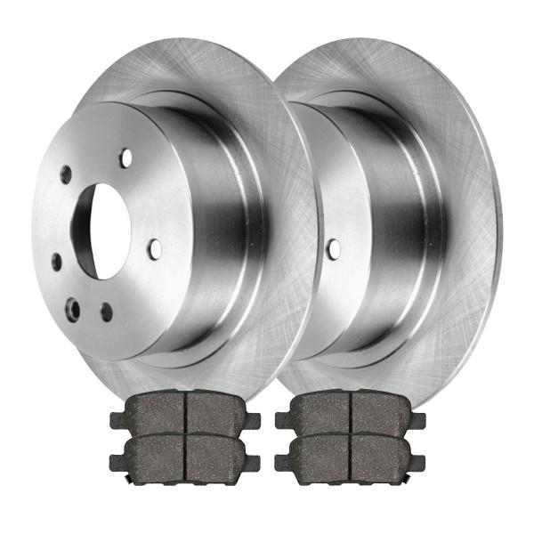 [Rear Set] 2 Brake Rotors & 1 Set Semi Metallic Brake Pads - Part # RSMK41314-41314-1288-2-4