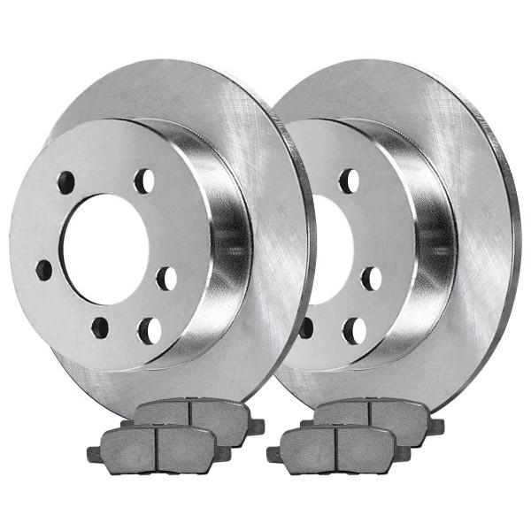 Rear Semi Metallic Brake Pad and Rotor Bundle - Part # RSMK41314-41314-905-2-4