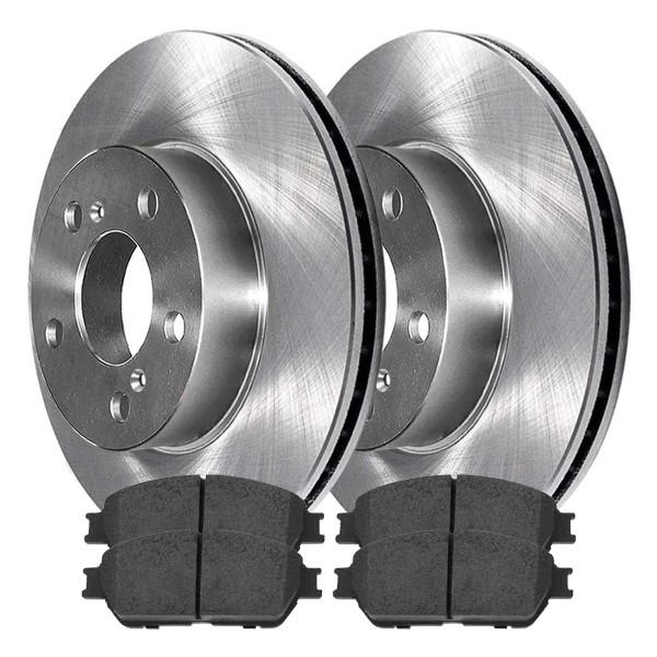 [Front Set] 2 Brake Rotors & 1 Set Semi Metallic Brake Pads - Part # RSMK41316-41316-906-2-4