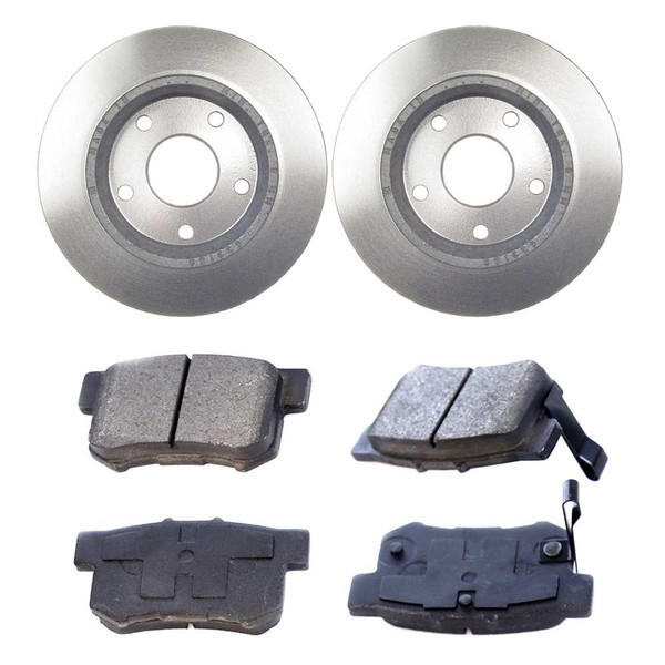 [Rear Set] 2 Brake Rotors & 1 Set Semi Metallic Brake Pads - Part # RSMK41317-41317-537-2-4