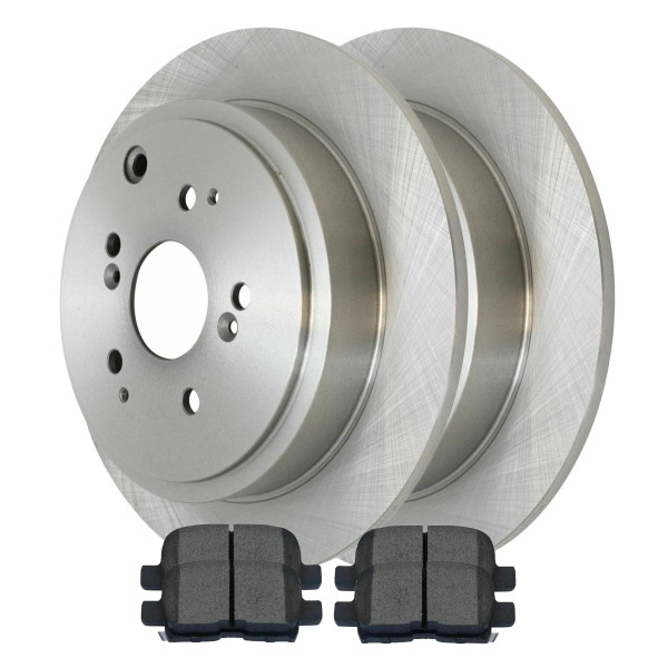 [Rear Set] 2 Brake Rotors & 1 Set Semi Metallic Brake Pads - Part # RSMK41320-41320-865-2-4