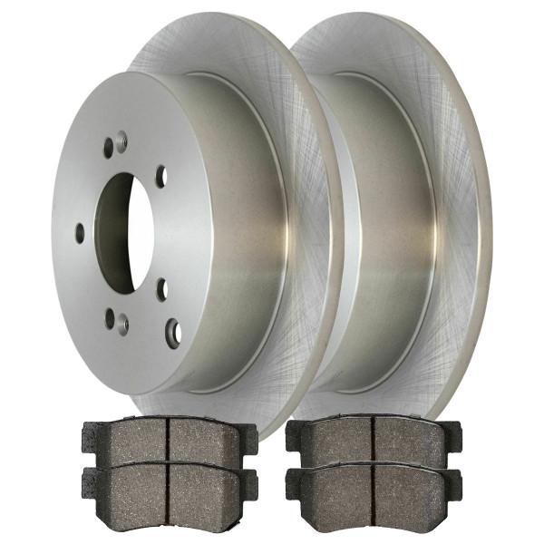 [Rear Set] 2 Brake Rotors & 1 Set Semi Metallic Brake Pads - Part # RSMK41338-41338-813-2-4