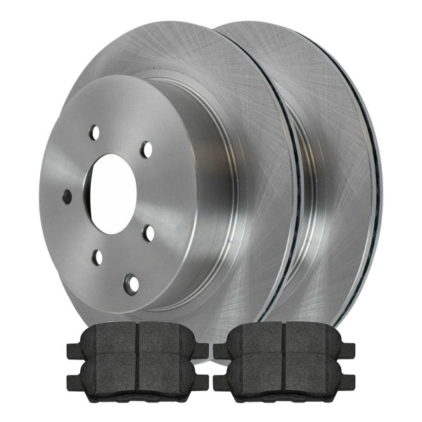 Rear Semi Metallic Brake Pad and Rotor Bundle - Part # RSMK41350-41350-905-2-4