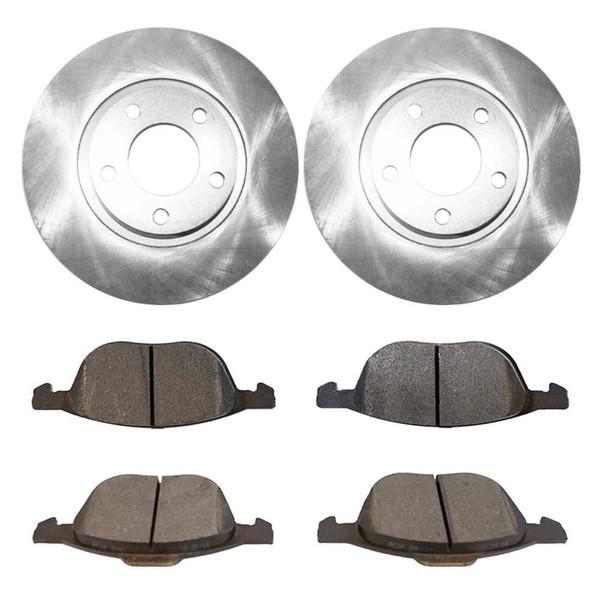 [Front Set] 2 Brake Rotors & 1 Set Semi Metallic Brake Pads - Part # RSMK41365-41365-1044-2-4