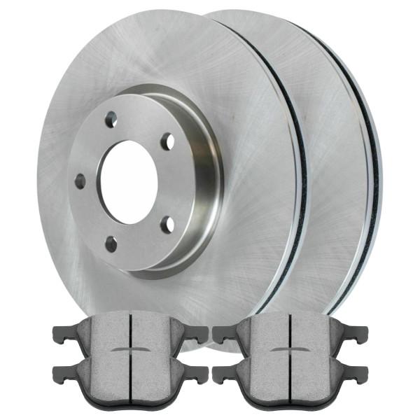 [Front Set] 2 Brake Rotors & 1 Set Semi Metallic Brake Pads - Part # RSMK41375-41375-1044-2-4