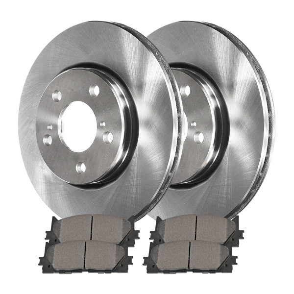 Front Semi Metallic Brake Pad and Rotor Bundle - Part # RSMK41436-41436-1293-2-4
