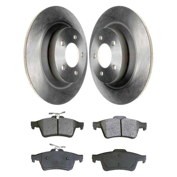 [Rear Set] 2 Brake Rotors & 1 Set Semi Metallic Brake Pads - Part # RSMK41437-41437-1095-2-4