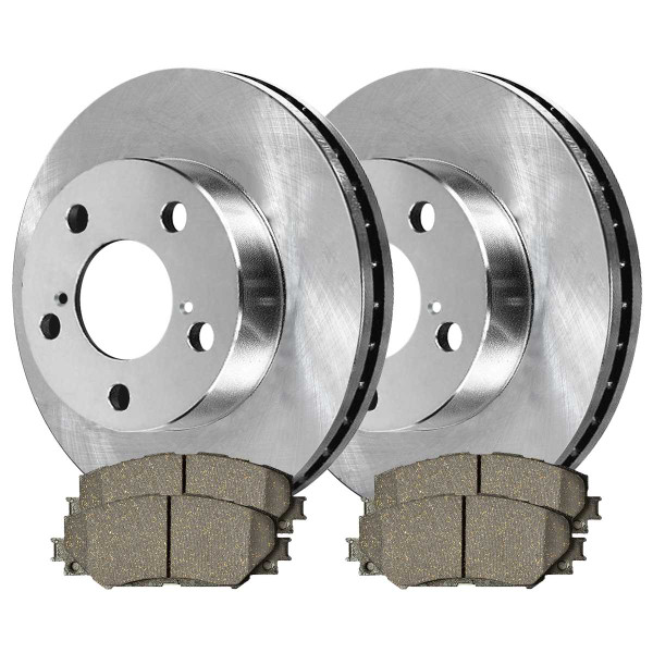 Front Semi Metallic Brake Pad and Rotor Bundle - Part # RSMK41507-41507-1210-2-4