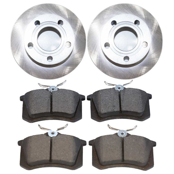 [Rear Set] 2 Brake Rotors & 1 Set Semi Metallic Brake Pads - Part # RSMK44025-44025-340-2-4
