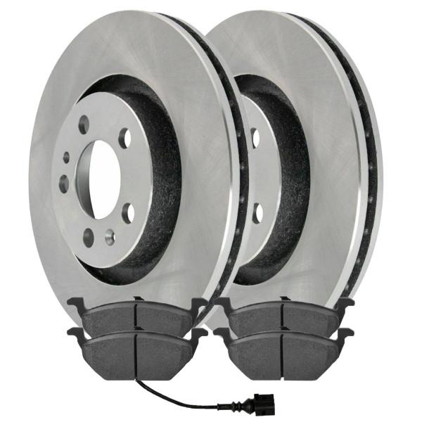[Front Set] 2 Brake Rotors & 1 Set Semi Metallic Brake Pads - Part # RSMK44145-44145-768A-2-4