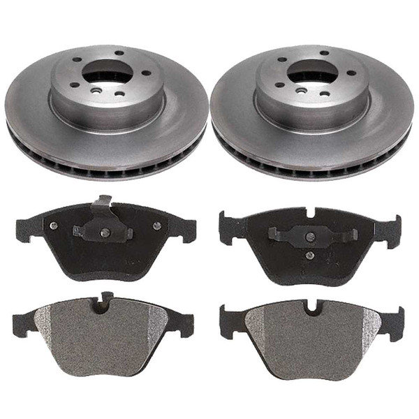 Front Metallic Brake Pads and Disc Rotors Complete Kit Left & Right Pair - Part # RSMK44285-44285-918-2-4