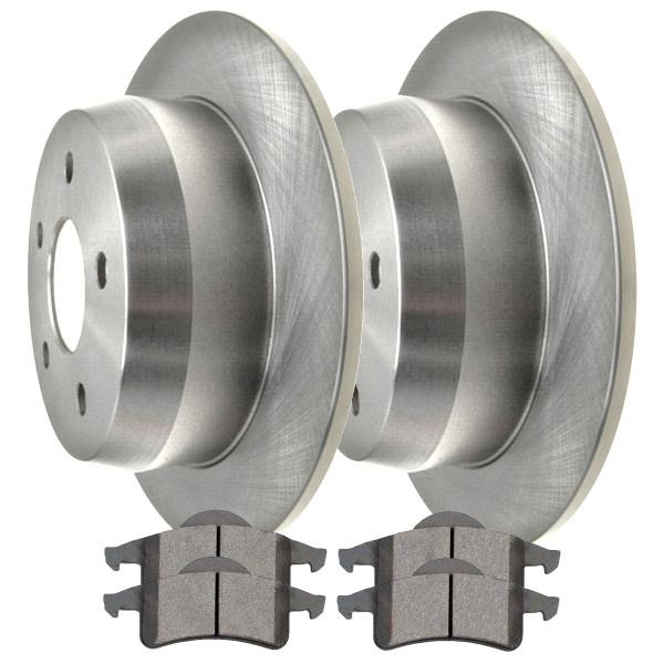 Rear Semi Metallic Brake Pad and Rotor Bundle - Part # RSMK6121-6121-791-2-4