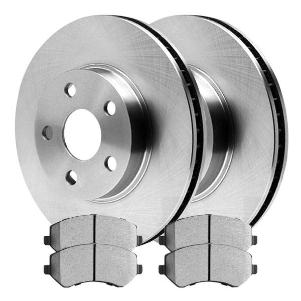 Front Semi Metallic Brake Pad and Rotor Bundle - Part # RSMK63003-63003-856A-2-4