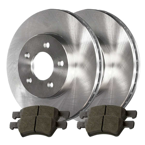 Front Semi Metallic Brake Pad and Rotor Bundle - Part # RSMK63006857